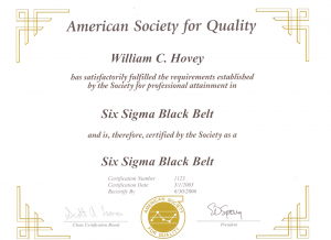 American Society of Quality Six Sigma Black Belt Certification