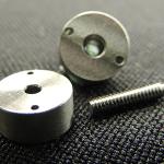 Tungsten Accelerator mass with 2-56 fine pitch titanium Screw
